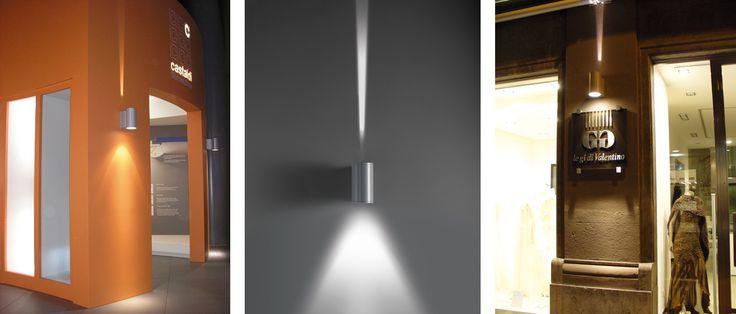 Lampade a soffitto e per l'illuminazione di facciate D20 duetto Castaldi