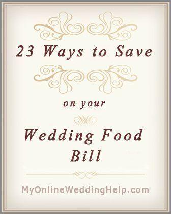 23 Wedding Food Ideas on a Budget. Chop Costs!