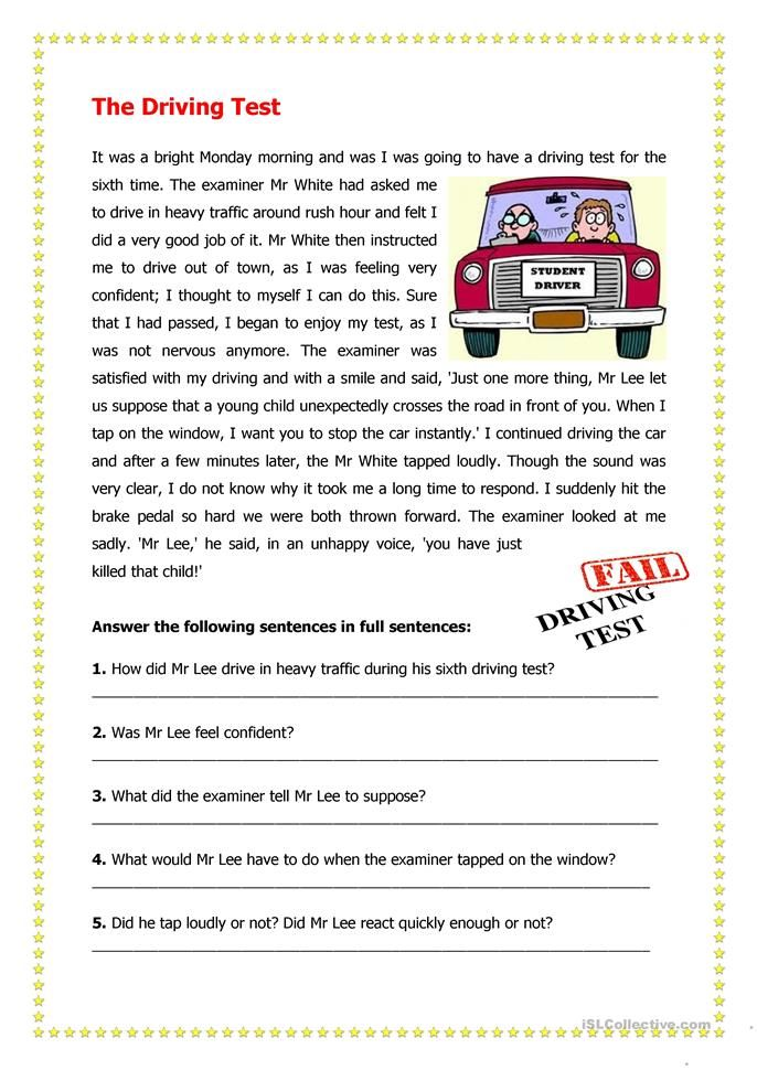The Driving Test ESL