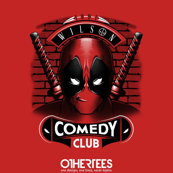 """Comedy Club"" by MitchLudwig T-shirts, Tank Tops, Sweatshirts and Hoodies are on sale until 27th October at www.OtherTees.com Pin it for a chance at a FREE TEE! #deadpool #marvel #comics #othertees"