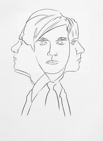 Andy Warhol (American, 1928-1987)    Self-Portrait, 1986     graphite on HMP paper    31 1/4 x 23 3/4 in. (79.4 x 60.3 cm.)    The Andy Warhol Museum, Pittsburgh