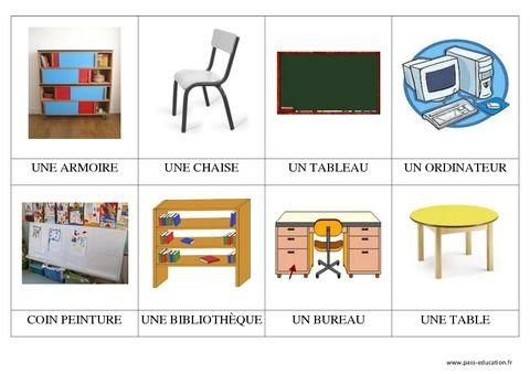 le mobilier de la classe c1 ps mati re. Black Bedroom Furniture Sets. Home Design Ideas