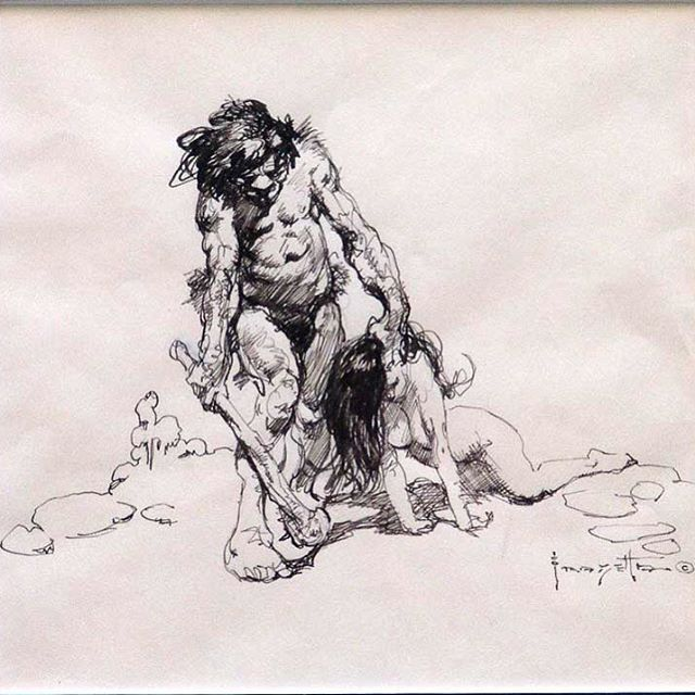 Caveman Concept Art : Best images about mr frank frazetta on pinterest