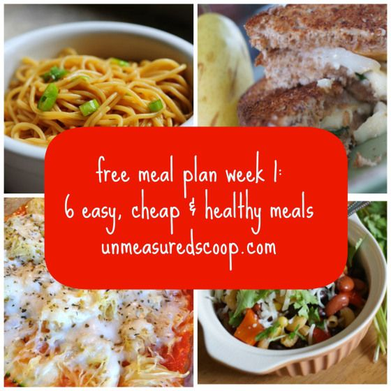 Cheap  Healthy meal plan
