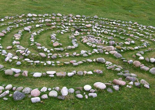 Columba's Bay Stone Pattern, Isle of Iona, Scotland