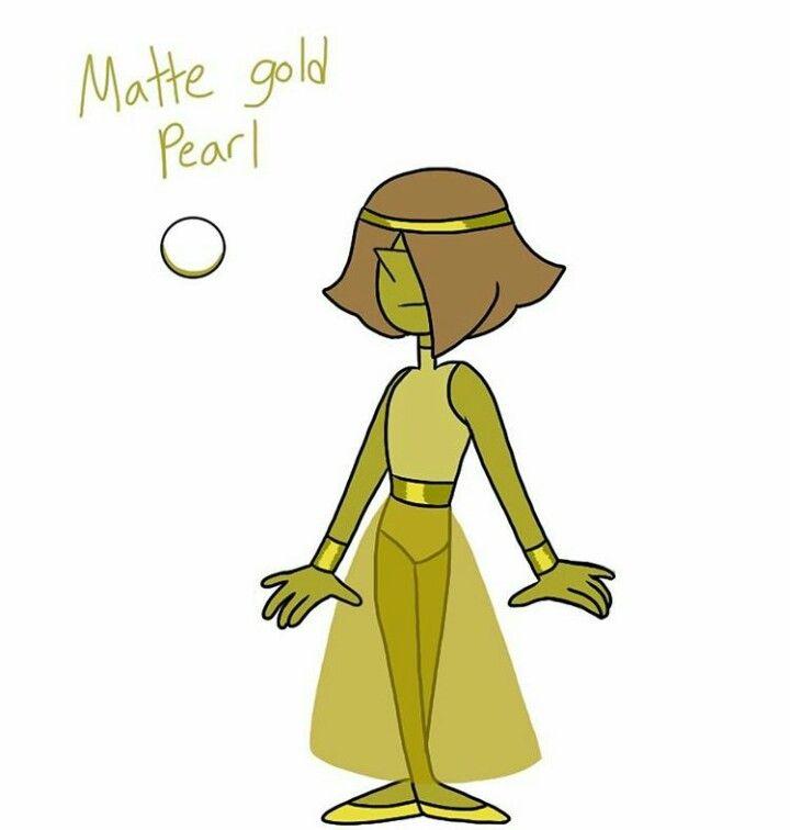 Matte Gold Pearl FanGem Steven Universe