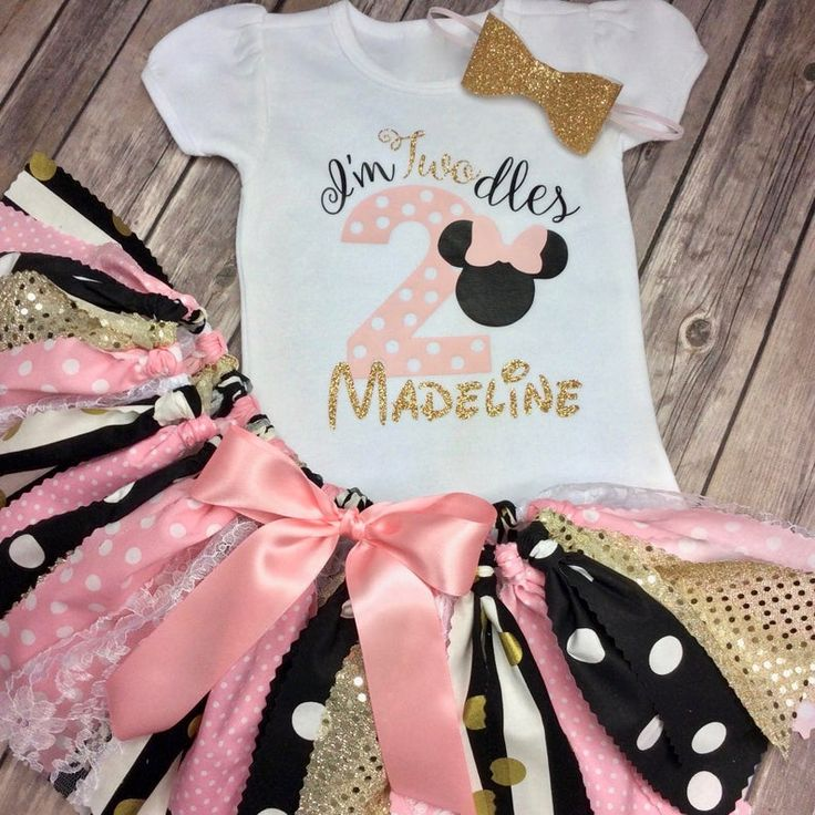 2 year old minnie mouse twodles birthday outfit light pink