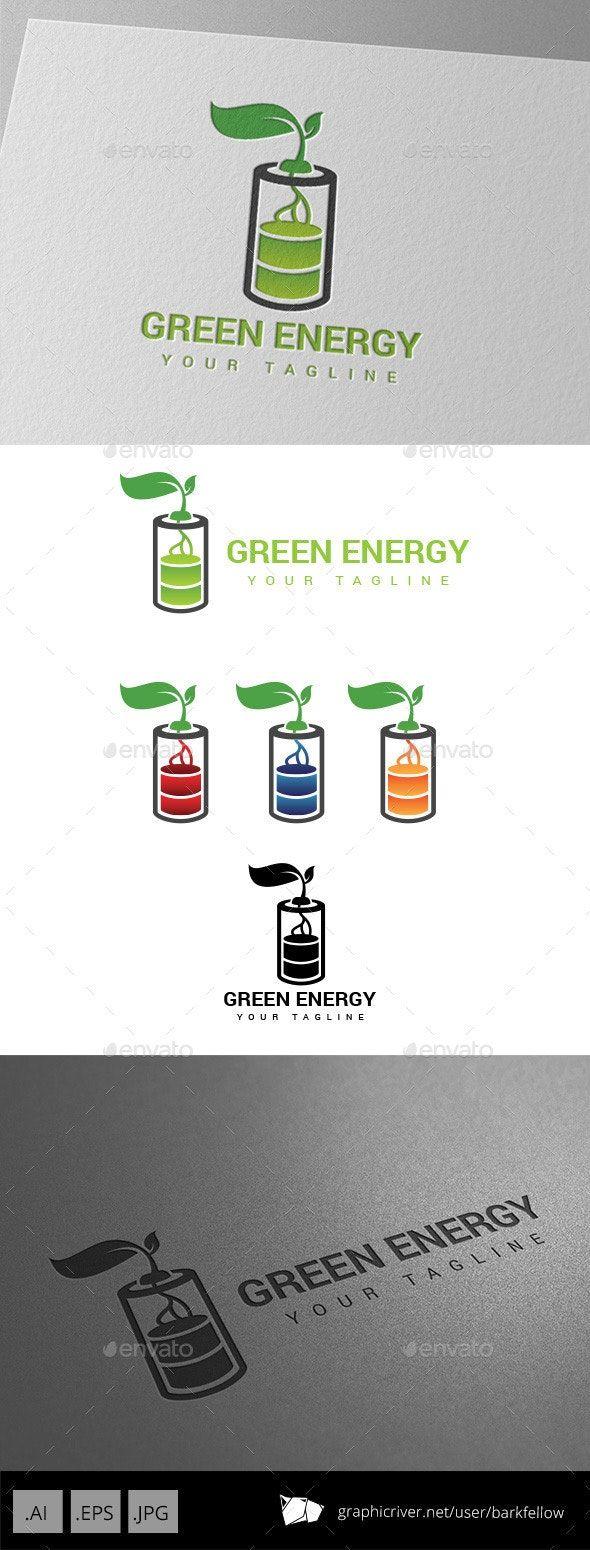Battery Green Energy Logo By Barkfellow Graphicriver Green Energy Logo Energy Logo Energy Logo Design