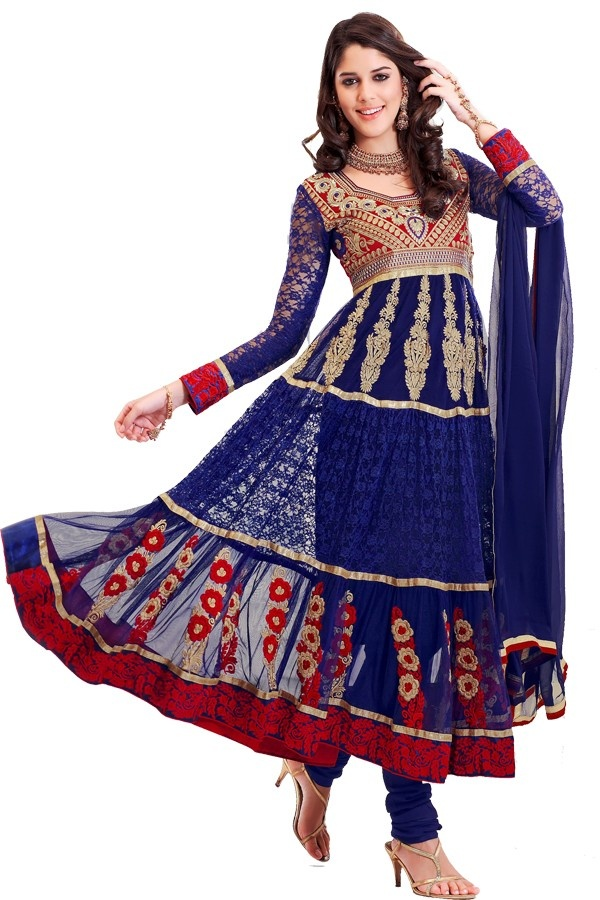 Trendy blue embroidered anarkali suit Fabric - Net Color - Blue  http://valehri.com/salwar-kameez/790-trendy-blue-embroidered-anarkali-suit.html