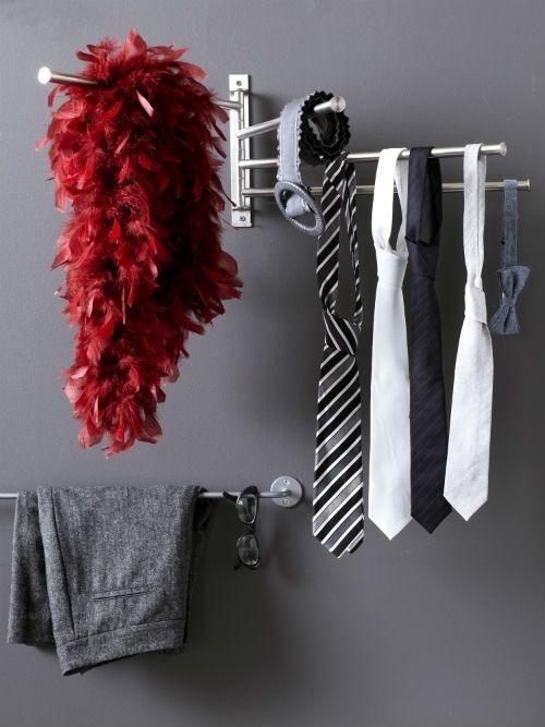Suporte de Toalhas Grundtal Para Gravatas e Cintos | 33 coisas incrivelmente inteligentes que você precisa ter no seu apartamento pequeno