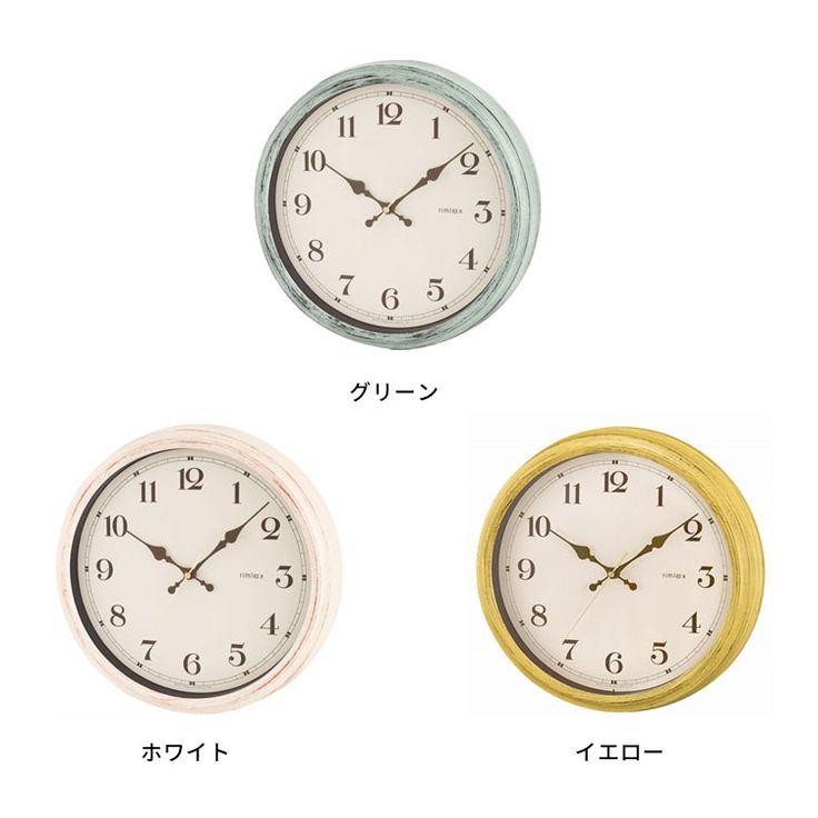 電波掛け時計 エアリアルレトロ