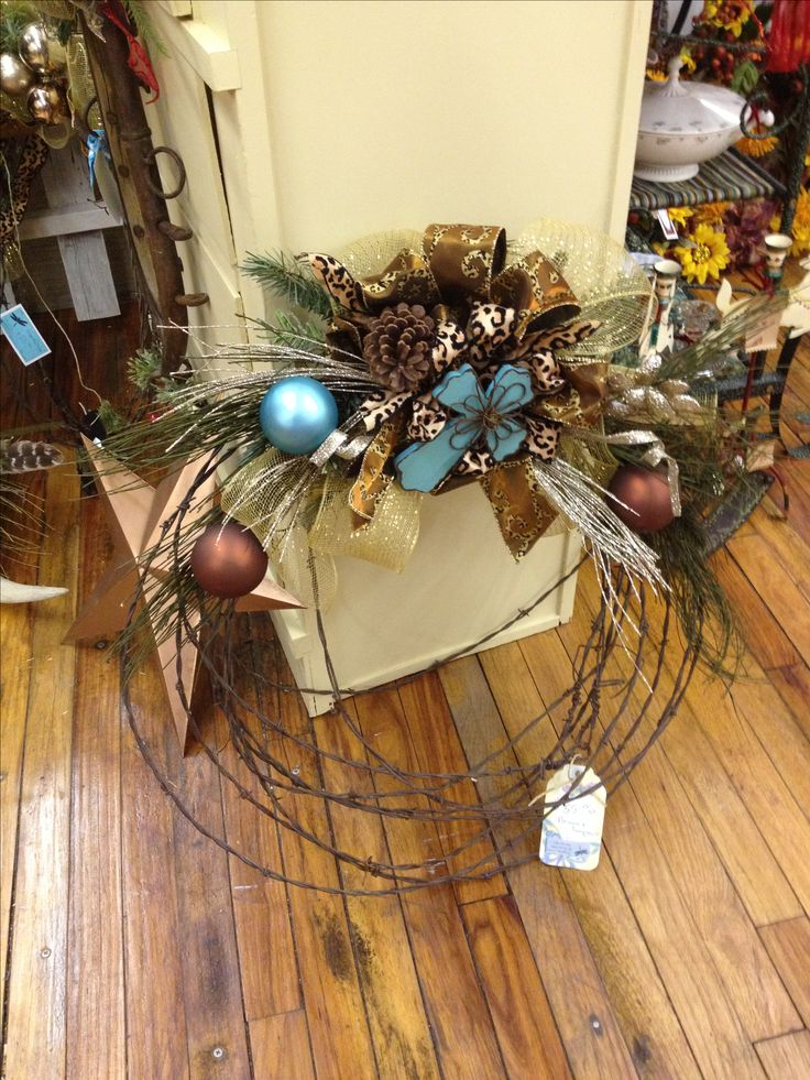 Barbed wire wreath!