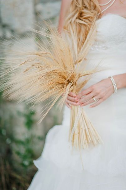 wheat wedding bouquet // photo by Nadia Meli // view more: http://ruffledblog.com/provencal-lavender-field-wedding