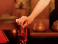 The famous cherry. Twin Peaks. Gif