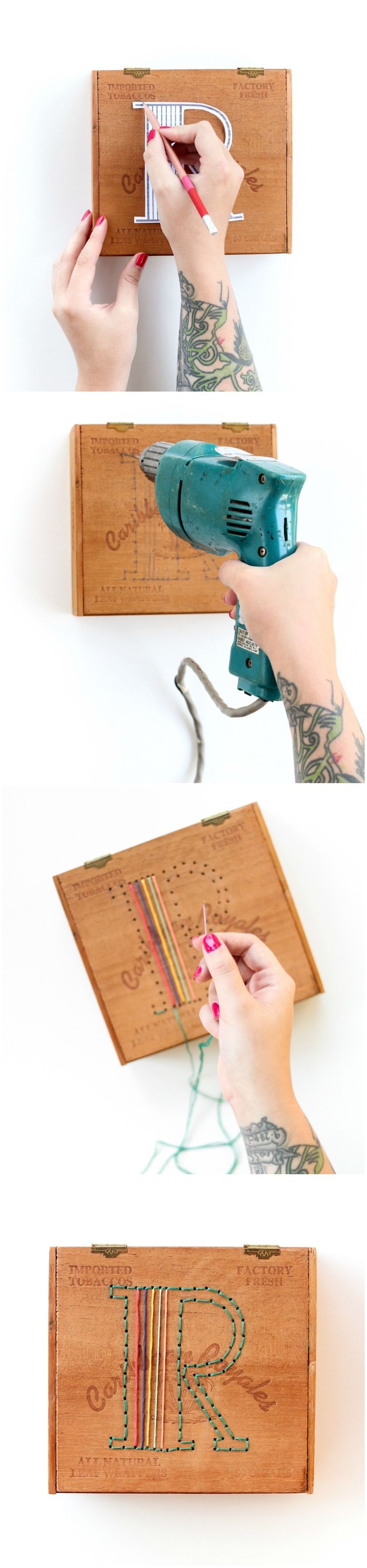 DIY: embroidered box