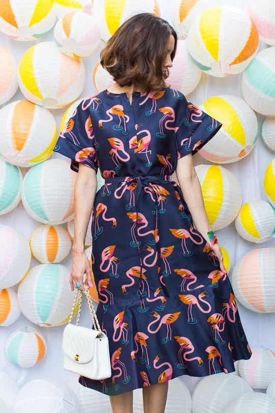 This flamingo dress