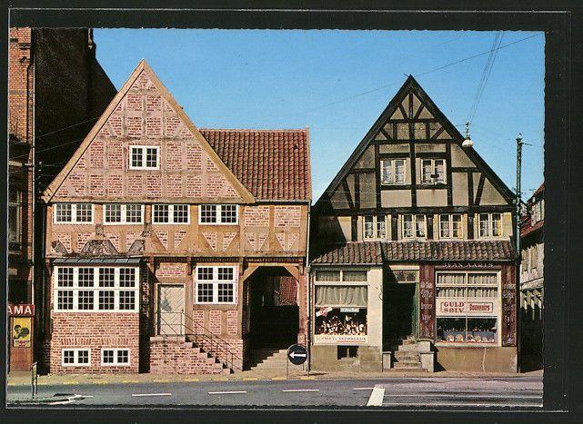 AK Haderslev, De gamle Huse paa Torvet, die alten Häuser auf dem Marktplatz