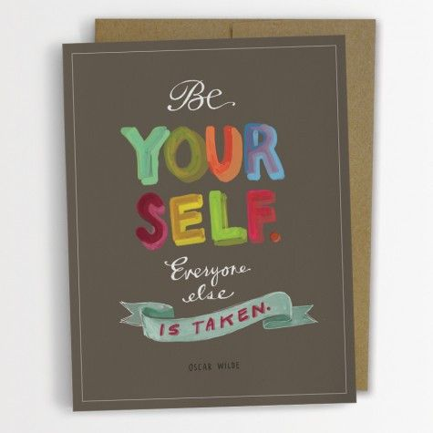 Be Yourself Card
