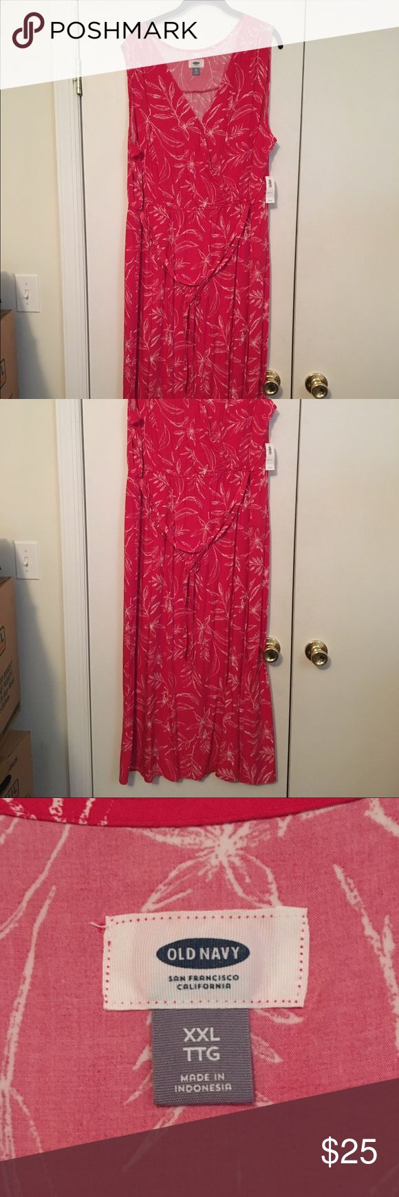 NWT Hot Pink Maxi Dress from Old Navy size XXL Hot Pink Maxi Dress from Old Navy size XXL Old Navy Dresses Maxi