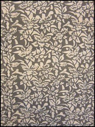 Textiil -  Floral Natural Dye Indonesian #Batik