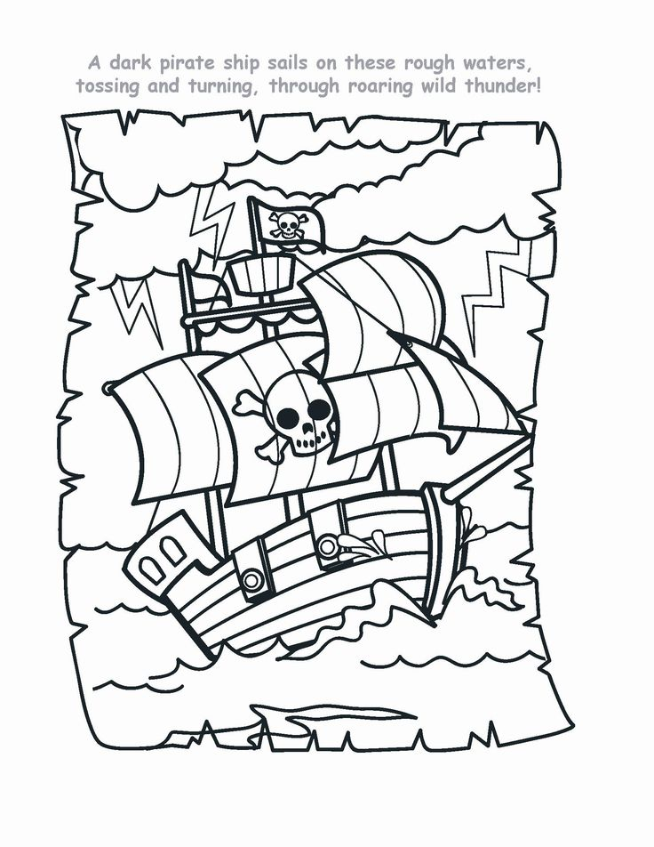 pirate coloring pages - Google Search
