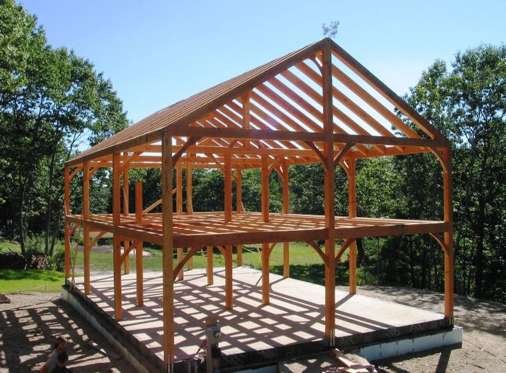 Timber frame barn designs elegant timber frame trusses for Post frame homes plans