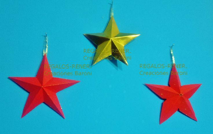 estrellas 3d cartulina