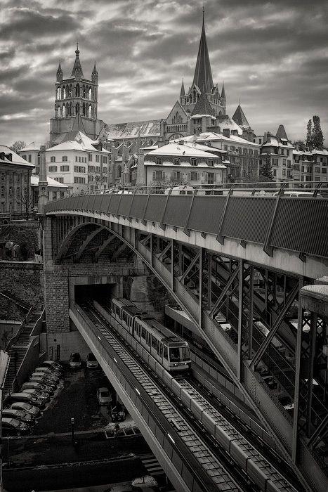 Lausanne - Subway-castle by Dmitry Shamin, via 500px