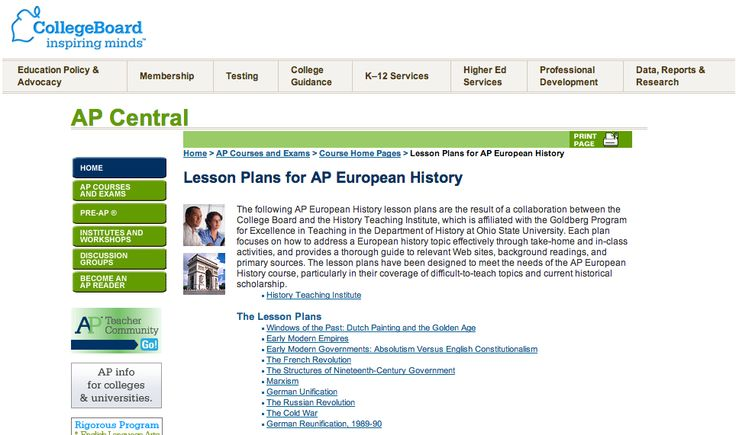 Collaborative Teaching Lesson Plans : The following ap european history lesson plans are