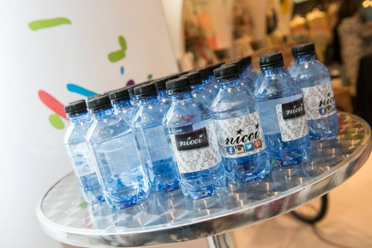 #NicciSummer15 Launch Branded water