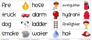 Fire Safety Vocabulary Words: First Grade Garden: Freebies