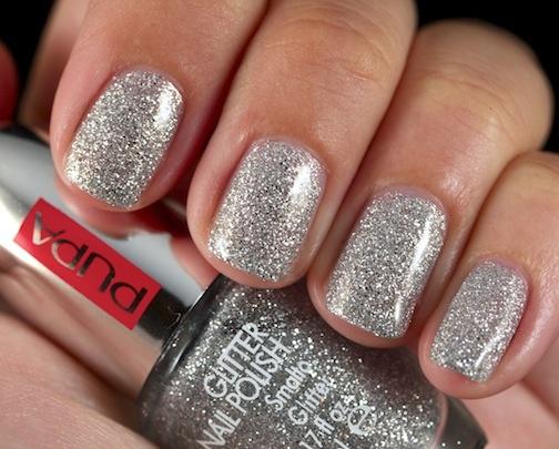 817 - SILVER GLITTER  Glitter nail polish