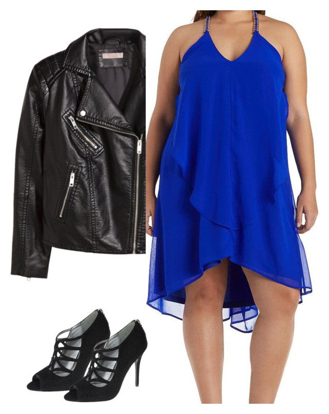 """""""somebody call 911"""" by tiff-k ❤ liked on Polyvore featuring H&M, Charlotte Russe, Nina and plus size dresses"""