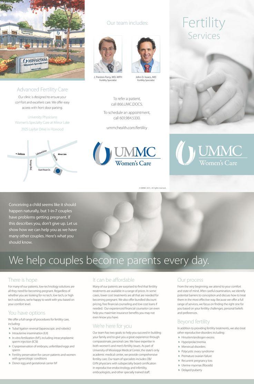 UMMC Women's Care Fertility Services brochure (June 2015