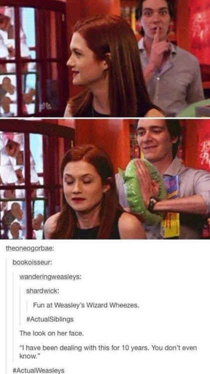 When the Weasleys were Actual Weasleys.