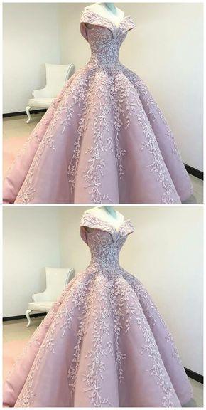 Weg von der Schulter Ballkleid rosa langes Abendkl…