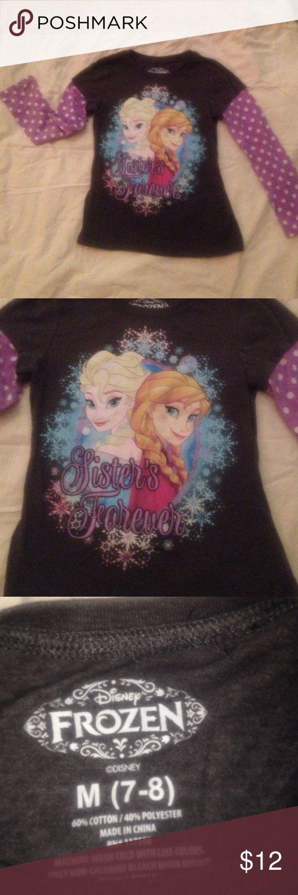 Disney Frozen Sisters Forever Tee Size 7 Disney Frozen Sisters Forever Tee Size 7 Disney Shirts & Tops Tees - Long Sleeve