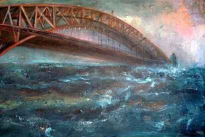 Sydney in The Anthropocene Oil and acrylic on canvas 2014