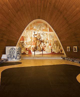 Igreja da Pampulha by Oscar Niemeyer, Belo Horizonte, paintings by Candido Portinari