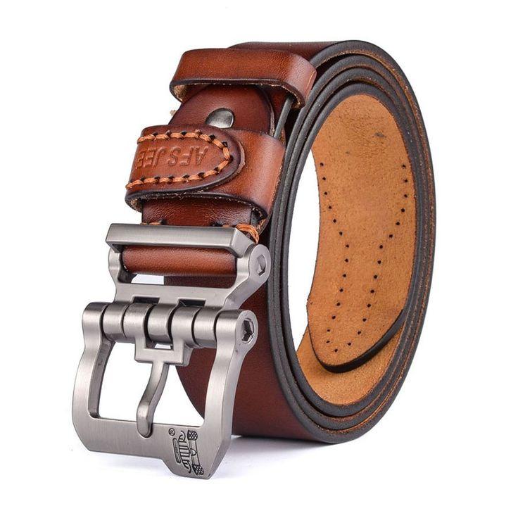 Designer Leather Pin Buckle Belt