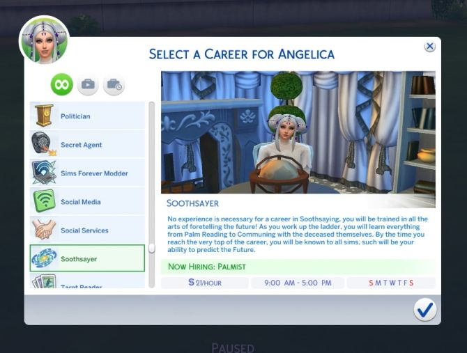 Soothsayer Career by PurpleThistles at Mod The Sims • Sims 4