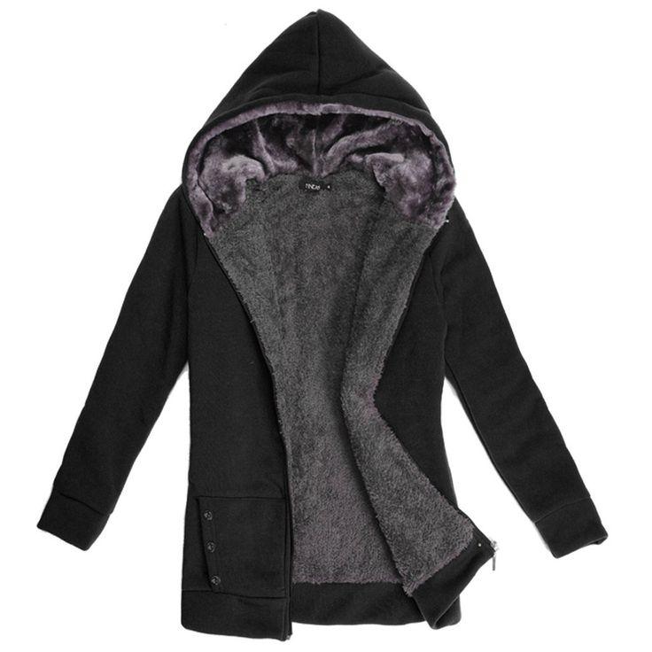 2016 Autumn Winter Women Winter Warm Fleece Cotton Zip Up Hoodies Coat Sweatshirt Jacket Hoody Outerwear Plus Size M-XXL 58 - Alternative Measures