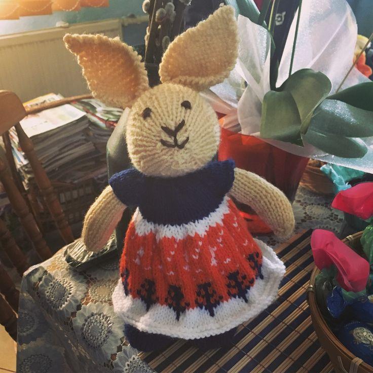 Kötött nyuszi (Knitted bunny) #knit #knitting #bunny #littlecottonrabbits #rabbit #cute #amigurumi #easter