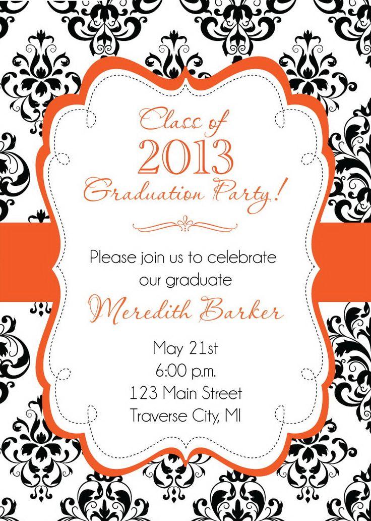 96 best Graduation Invitations images on Pinterest | Graduation ...