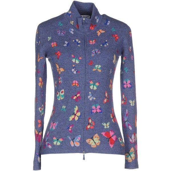 Richard Grand Cardigan ($440) ❤ liked on Polyvore featuring tops, cardigans, slate blue, cashmere cardigans, long sleeve cardigan, cashmere turtleneck, blue cashmere cardigan and colorful cardigan