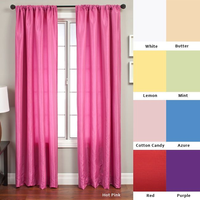 Softline Luminous 96-inch Rod Pocket Curtain Panel - 55 x 96 (Green/Mint), Blue (Cotton, Solid)