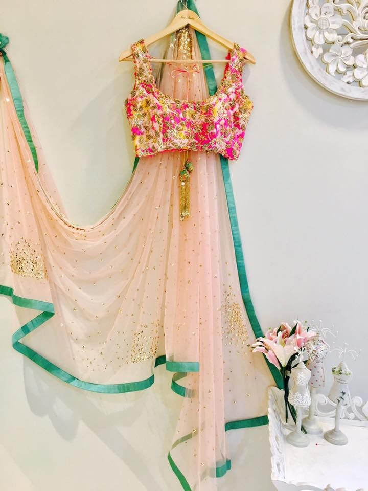 RUNWAY collection!!!!SC-S240: pink net saree with tie dye hand embroidered blouse!!! We can customize the colour size as per your requirement.To order please call/ WhatsApp on 9949944178 or mail us @issadesignerstudio@gmail.com 14 March 2017