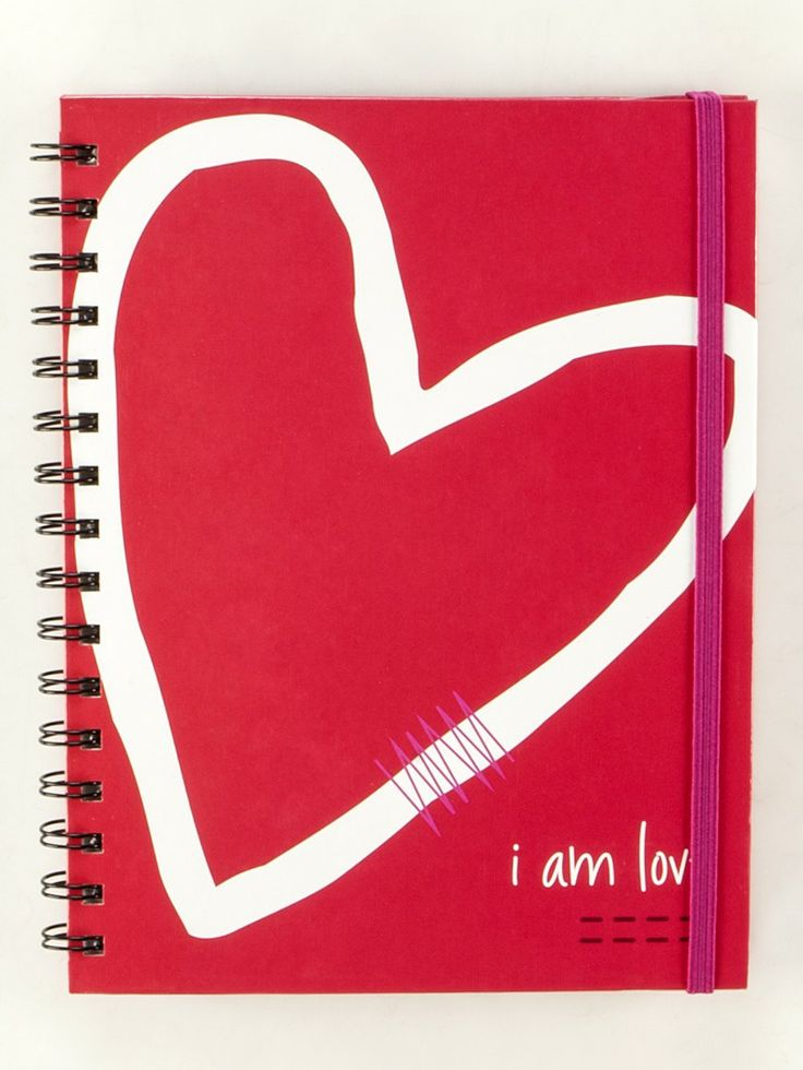 I Am Love Red Journal