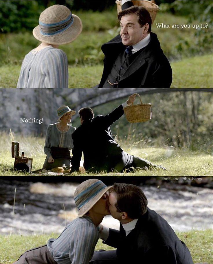 Episode 3x09 [@anna_and_john_bates   Instagram] Anna Bates John Bates Downton Abbey Joanne Froggatt Brendan Coyle