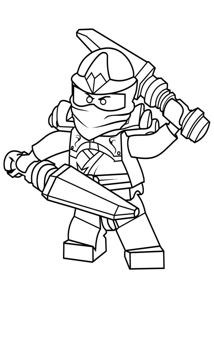 Blue Ninjago Coloring Pages